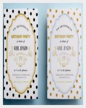 Blue Elegant Birthday Party Invitation