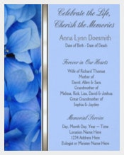 Blue Hydrangea Funeral Announcements