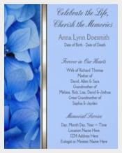 Blue Hydrangea Funeral Announcements