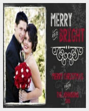 ChalkBoard Wedding Announcement, Save The Date, Christmas Card
