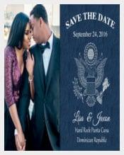 Custom Passport Save the Date destination Wedding Card
