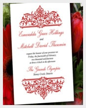 DIY Wedding Invitation Template - Red Invitation Printable Cella Wedding
