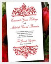 DIY Wedding Invitation Template - Red Invitation Printable Cella Wedding