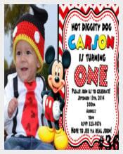 Digital Mickey Mouse Invitation Printable
