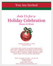 Dinner Holiday Celebration Invitation Template  Celebration Invitations Templates