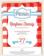 Family Reunion Picnic Invitation - BBQ Invitation - 4th of July Invite