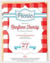 Family Reunion Picnic Invitation - BBQ Invitation - 4th of July Invite