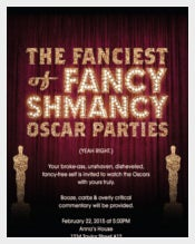 Fancy Oscar Party Award Invitation Card