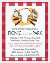 Fun Plaid Tablecloth Summer Picnic BBQ invitation