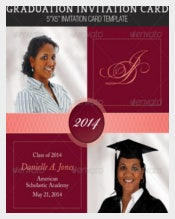 Graduation Invitation Card For Girls