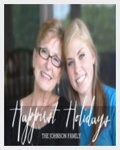 Happiest Holidays Modern Full Photo - White Type Invitation Card