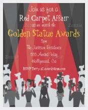Hollywood Movie Award Party Invitation Card