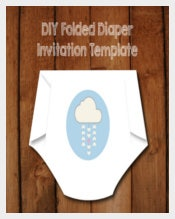 Make your own Diaper Shaped Baby Shower Invitations-