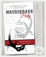 Masquerade Party Invitation Masquerade Ball