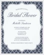 Navy Quatrefoil Bridal Shower Invitation