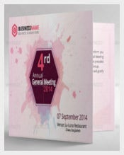 PINK Corporate Annual Meeting invitation Card