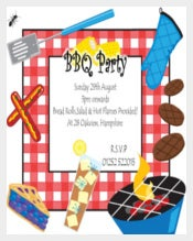 Personalised BBQ Barbeque Summer Garden Party Invitations Invites