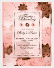 Pink & Brown Baby Shower Invitation