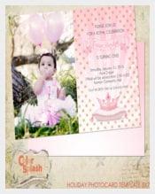 Princess Birthday 1st Birthday Invitation Template