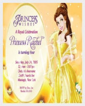 Princess Birthday Invitation Template for girls