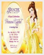 Princess Birthday Invitation Template for girls