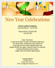 Red New Year Celebration Invitation Template