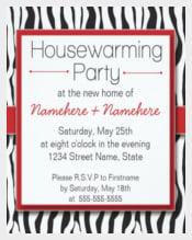 Red Zebra Print Housewarming Party Invitations