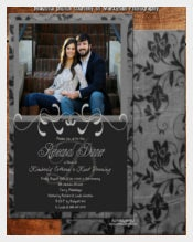 Rehearsal Dinner Invitation Card DM