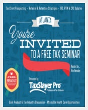 Seminar Postcard Invitation for Tax