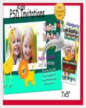 Templates PSD for Birthday Invitations & Ticket Party