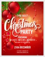 Vector Christmas Party Design Template
