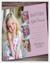 Customized Baptism Invitation, girl baptism invitation