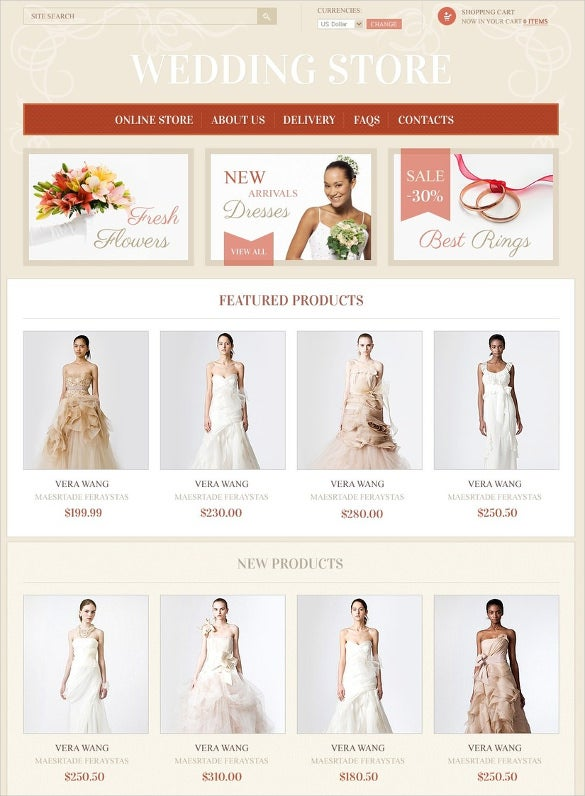 wedding finery accessories virtuemart theme