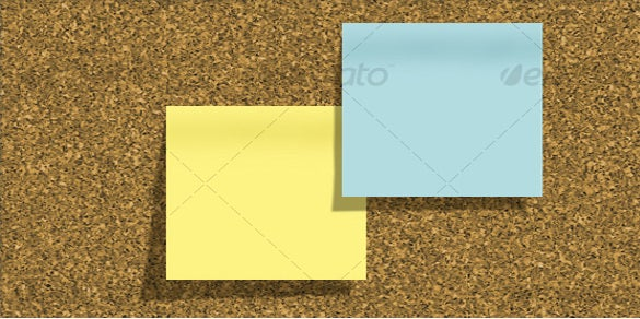 corkboard sample sticky note template download