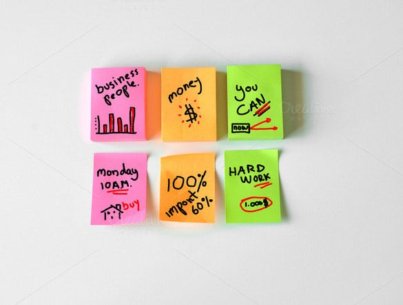 example of a sticky note template download