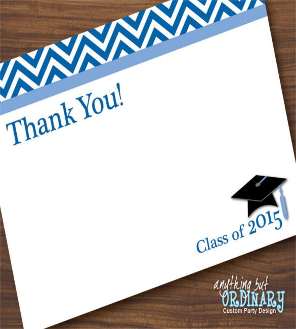graduation thank you card template