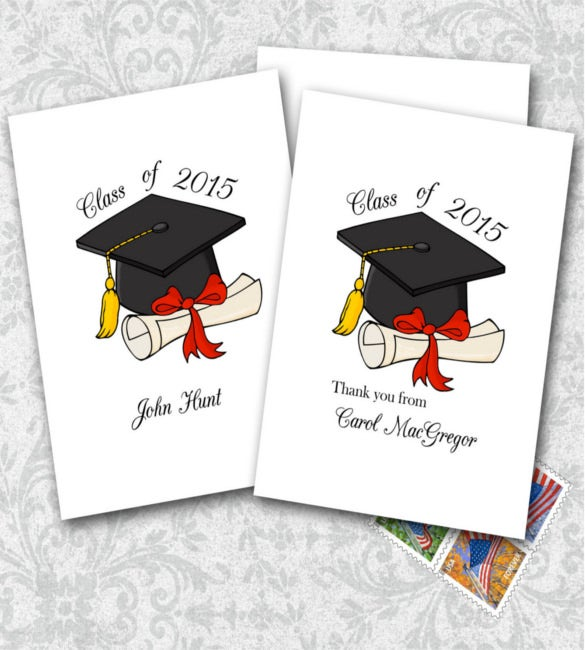 graduation thank you note cards - Graduation Thank You Cards