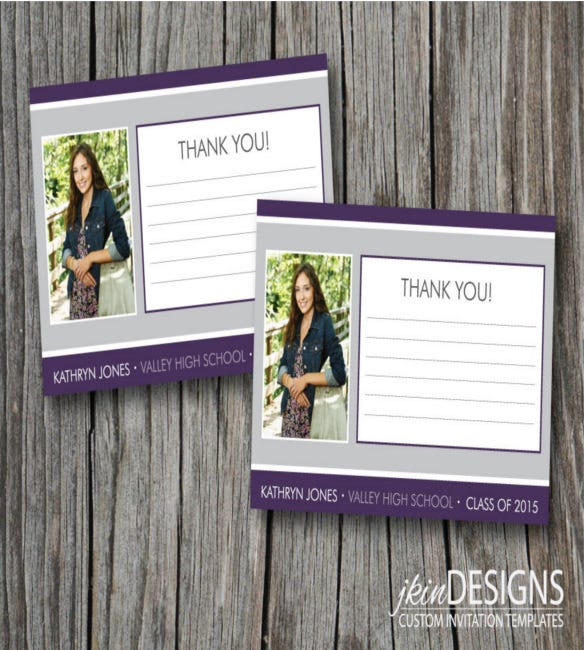 colorful 2015 graduation thank you notes