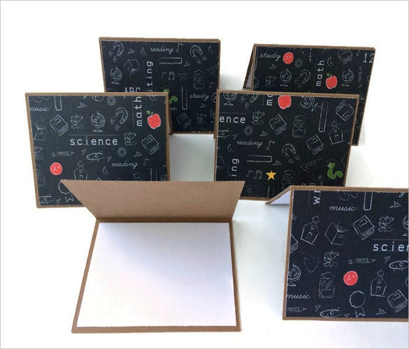 school themed note cards gift for teachers