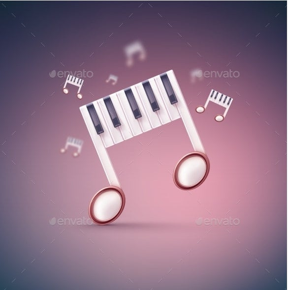 vector eps format musical note template download