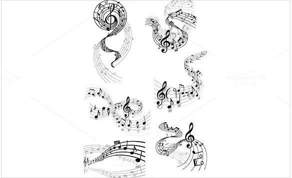 eps format musical note template download