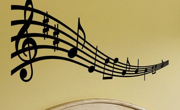 wall art musical notes example template download