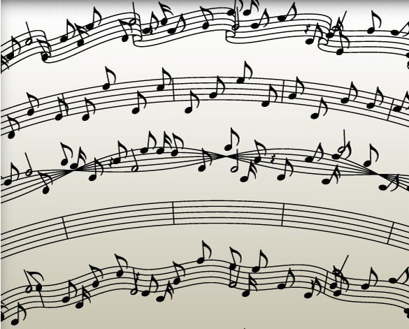 sample musical note in vector eps format