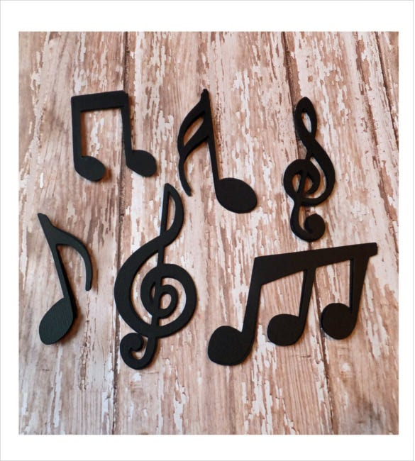 24 musical note example template download