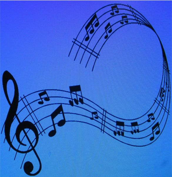 black vinyl musical notes example template download