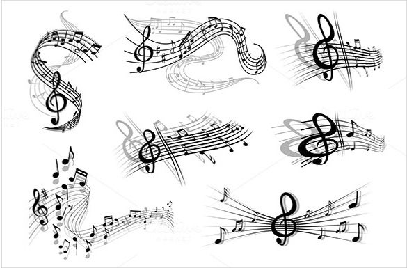 example of musical note template 1