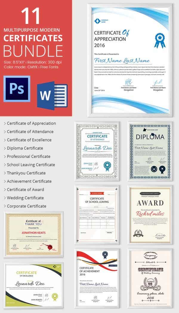 Word Certificate Template   Free Download Samples Examples