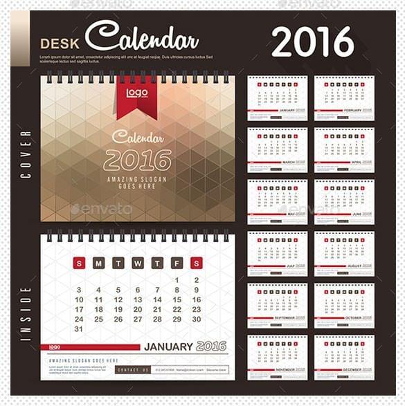 2016 multipurpose calendar template eps format1