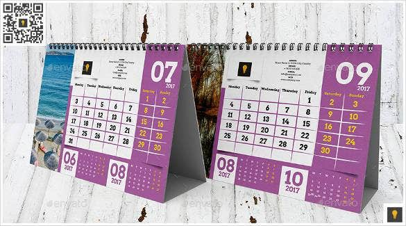 modele calendrier indesign
