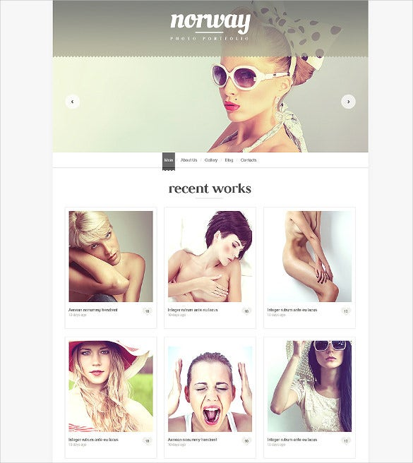 simple photography wordpress template